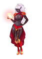 Skimpily Clad Drow Sorceress.png