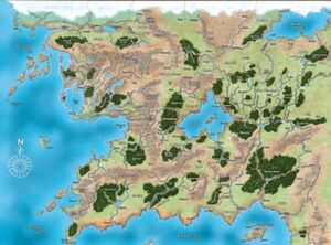Pathfinder Golarion Map Golarion   1d4chan Pathfinder Golarion Map