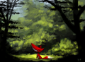 Happy Red in a forest.png