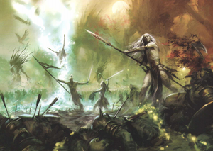 Wood Elves fighting barbarians (1).png