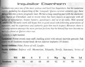 Gregor Eisenhorn - 1d4chan